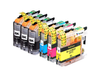 6 Pack Compatible Ink Cartridges Replacement for Brother LC-203(B/C/M/Y)