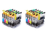10 Pack Compatible Ink Cartridges Replacement for Brother LC-203 (B/C/M/Y)