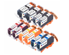 10 Pack Compatible Ink Cartridges Replacement for Canon PGI-220/CLI-221 (B/C/M/Y)