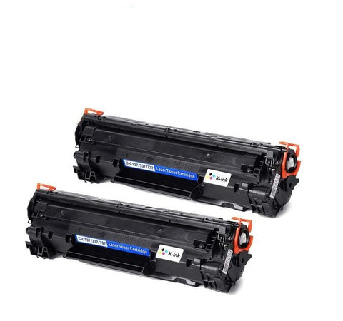 K-Ink Compatible Toner Cartridge Replacement for Canon 137 (2 Black)