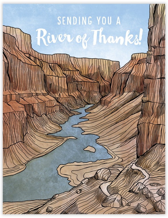 River of Thanks Un-Boxed Set of 8 Notecards