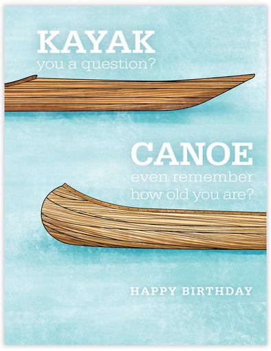 Kayak Canoe Birthday