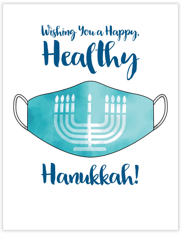 Happy Healthy Hanukkah Un-Boxed Set of 8 Notecards