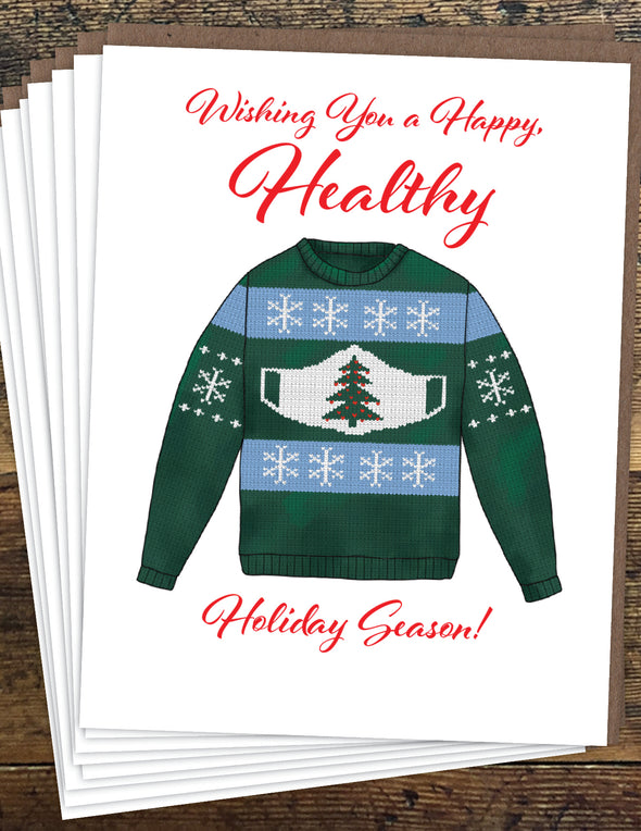 Ugly Holiday Sweater Un-Boxed Set of 8 Notecards