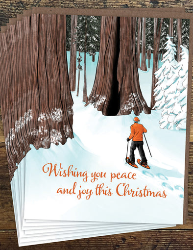 Snowshoe Christmas Un-Boxed Set of 8 Notecards
