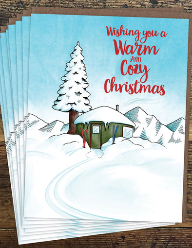 Warm and Cozy Christmas Un-Boxed Set of 8 Notecards