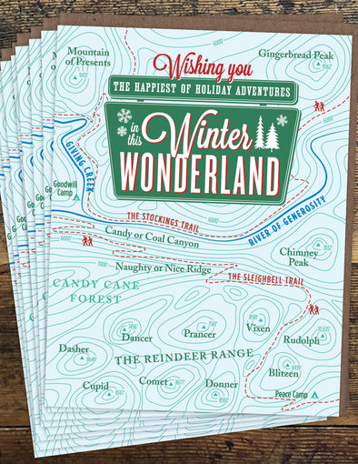 Winter Wonderland Un-Boxed Set of 8 Notecards
