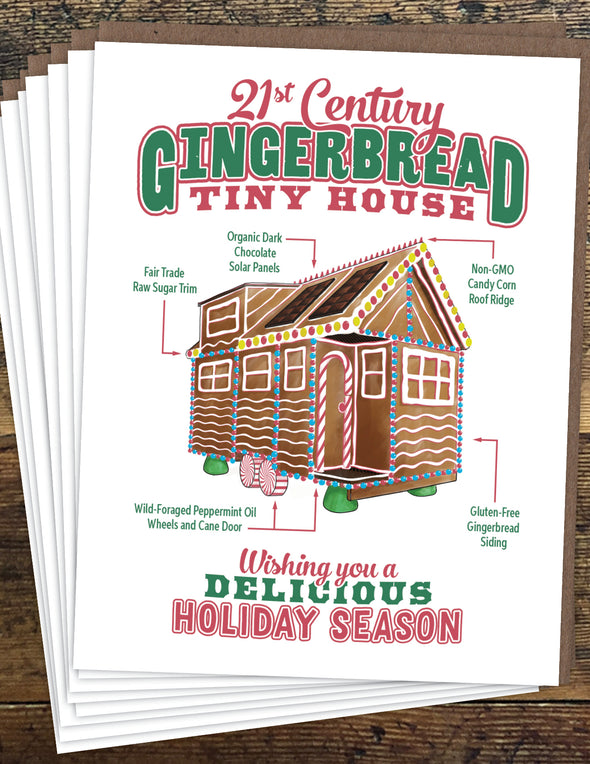 Gingerbread Tiny House Un-Boxed Set of 8 Notecards