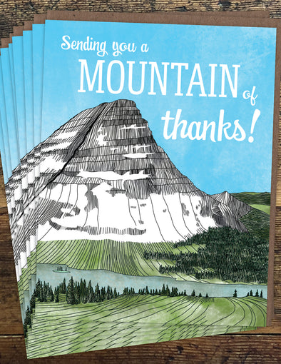 Mountain of Thanks Un-Boxed Set of 8 Notecards