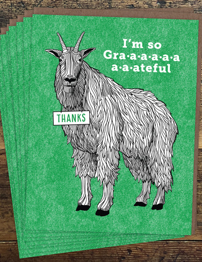 Goat Thanks Un-Boxed Set of 8 Notecards