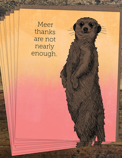 Meerkat Thanks Un-Boxed Set of 8 Notecards