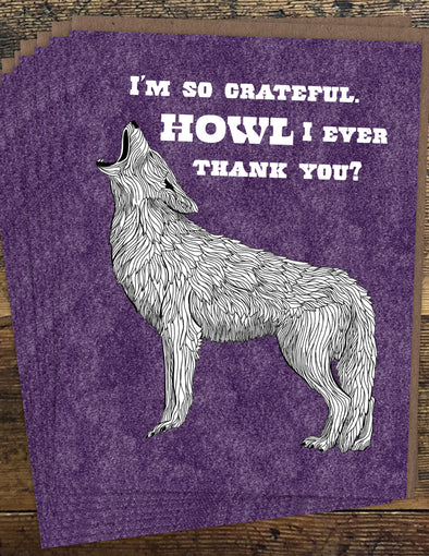 Coyote Thank You Un-Boxed Set of 8 Notecards