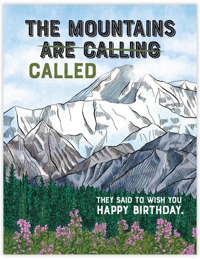Mountains Called Birthday