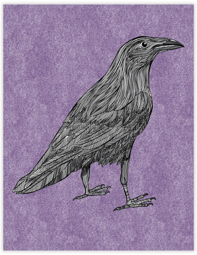 Raven Everyday Note Card