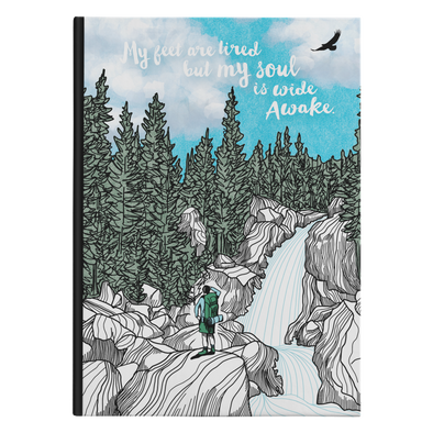 Tired Feet Waterfall Hardback Journal
