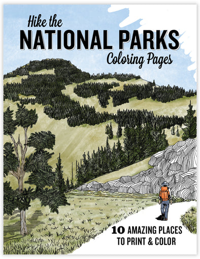 Download and Print National Parks Coloring Pages