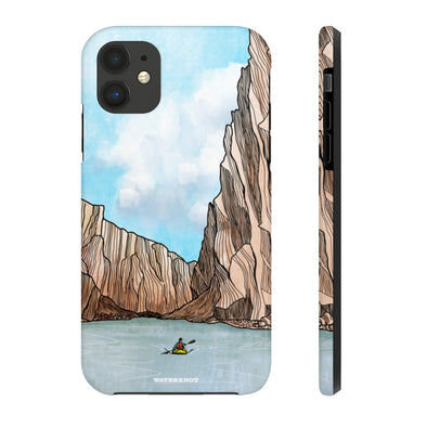 Desert Canyon Kayaker iPhone Case - Tough