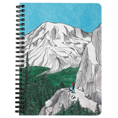 Rainier Hiker Wire Bound Journal
