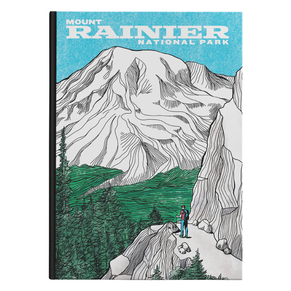 Mount Rainier Hardback Journal