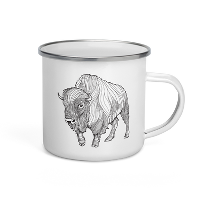 Bison Enamel Camp Mug