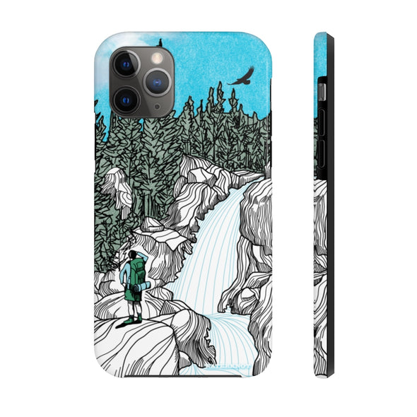 Rocky Mountain Waterfall iPhone Case - Tough