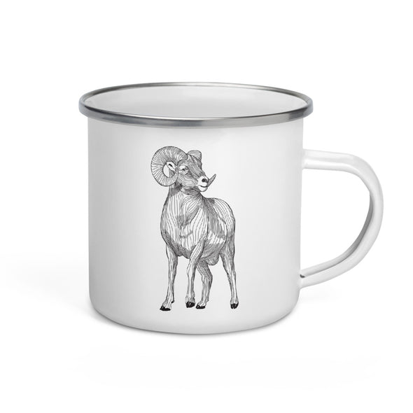 Big Horn Enamel Camp Mug