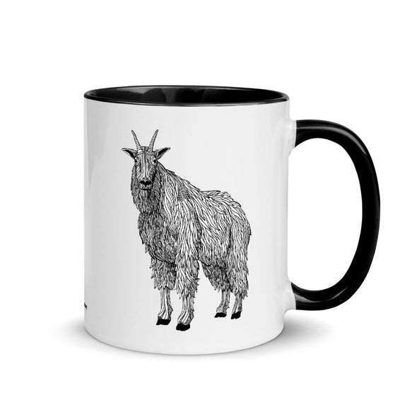 Mountain Goat Color Accent Coffee Mug