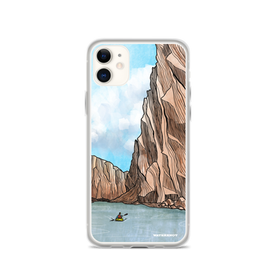 Desert Canyon Kayaker iPhone Case - Slim
