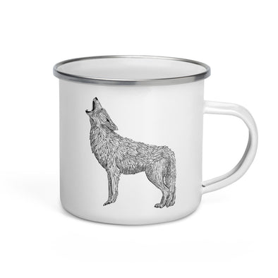 Coyote Enamel Camp Mug