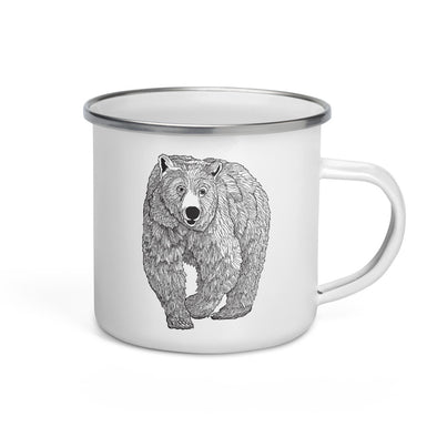 Grizzly Enamel Camp Mug