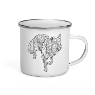 Fox Enamel Camp Mug