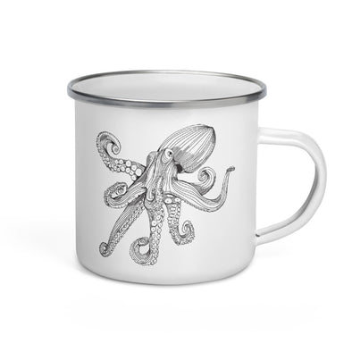 Octopus Enamel Camp Mug
