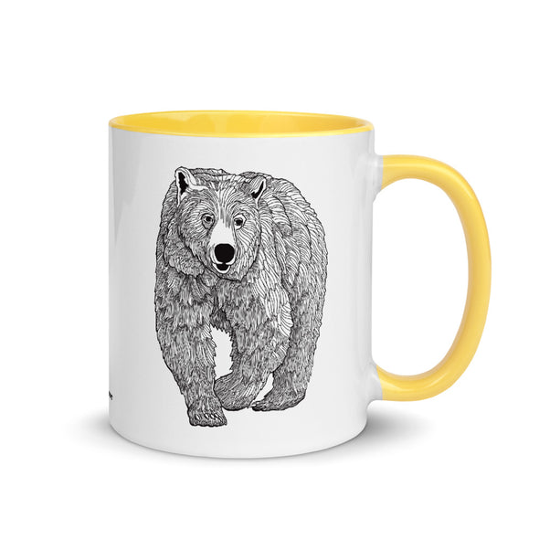 Grizzly Color Accent Coffee Mug
