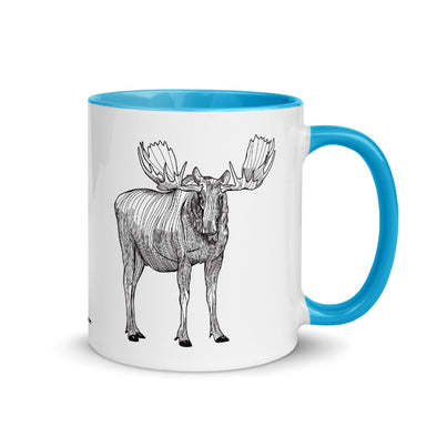 Moose Color Accent Coffee Mug