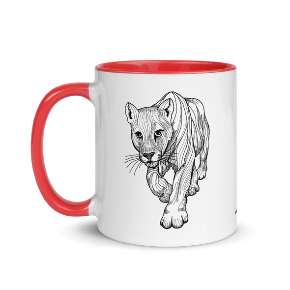 Cougar Color Accent Coffee Mug