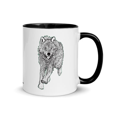 Wolf Color Accent Coffee Mug