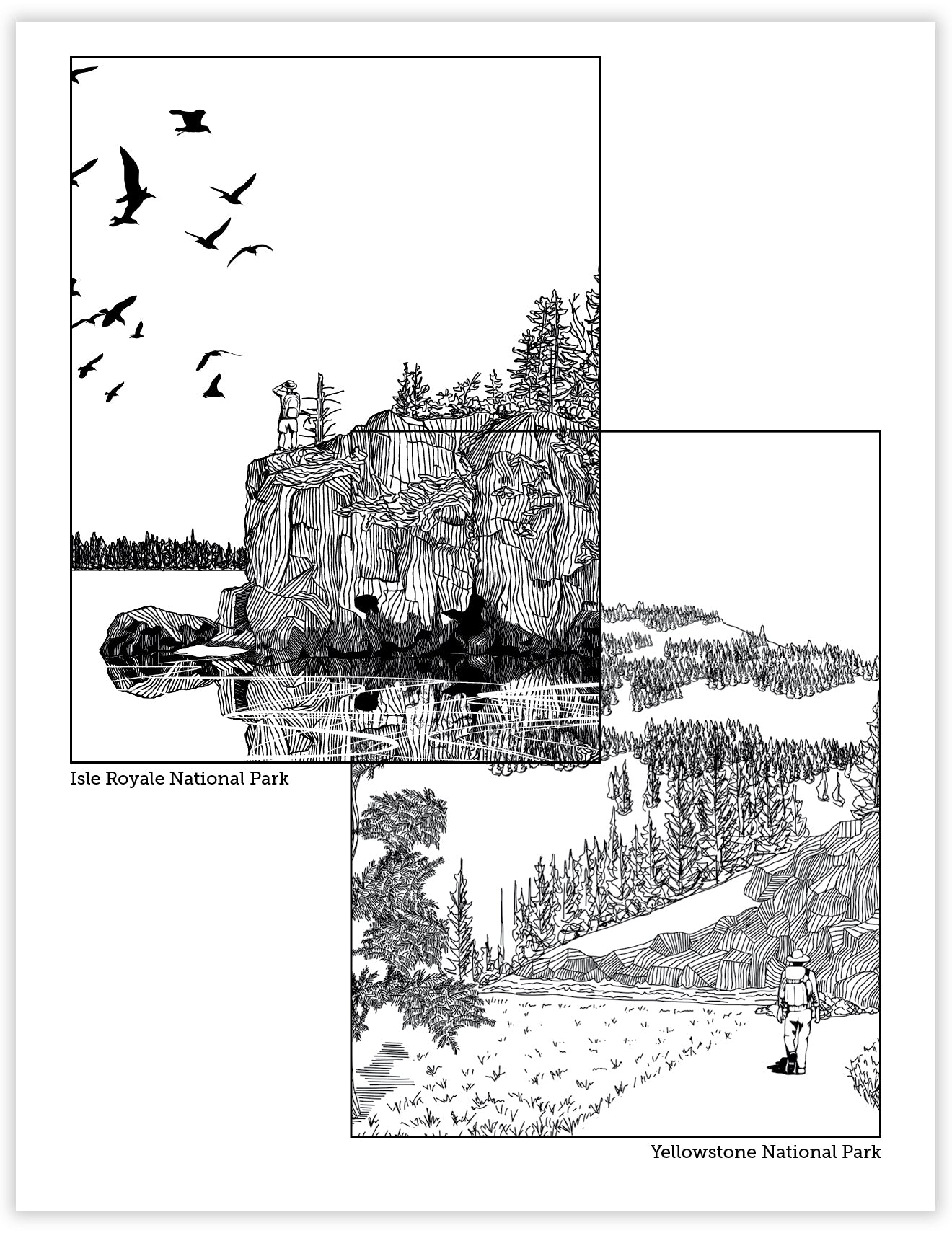 Download And Print National Parks Coloring Pages Waterknot