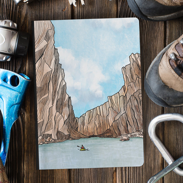 Desert Canyon Kayaker Softcover Journal