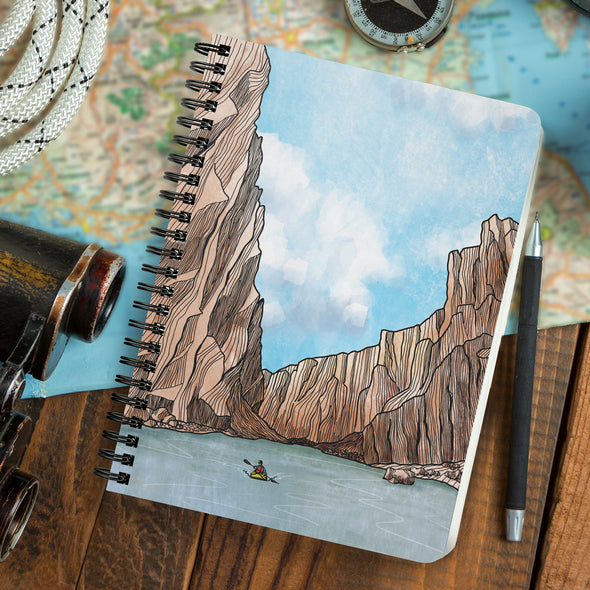 Desert Canyon Kayaker Wire Bound Journal