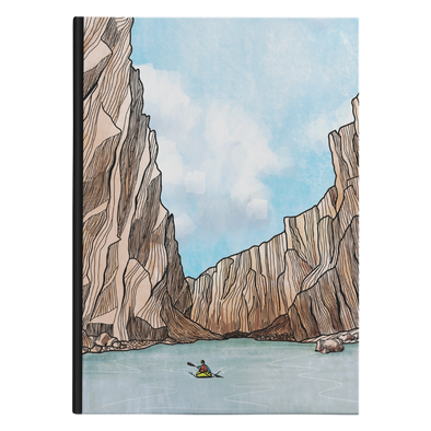 Desert Canyon Kayaker Hardback Journal