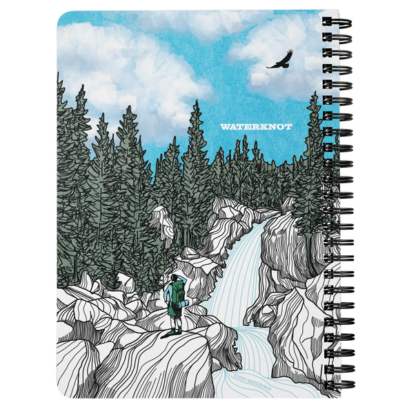 Tired Feet Waterfall Wire Bound Journal