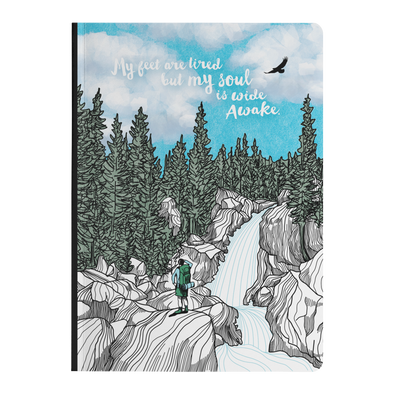 Tired Feet Waterfall Softcover Journal