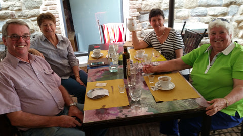 Mike Walsh, Marguerite Walsh, Marg Anderson and Jan Pont in Deruta, Italy