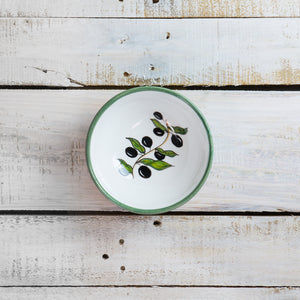 Round bowl with olives - 14cm