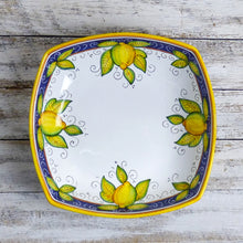 Load image into Gallery viewer, Large square serving bowl (30cm) - Lemon