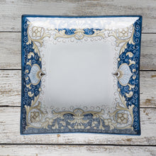 Load image into Gallery viewer, Large square dish (28cm) - Blue Fondo