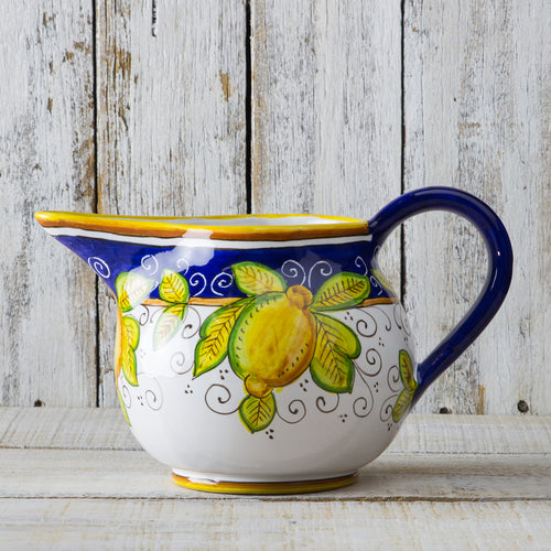 Italian ceramic lemon water jug