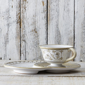 Tea Cup & Saucer/Cookie Plate - City