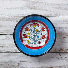 Load image into Gallery viewer, Serving bowl - Turkish flowers - Blue (20cm)
