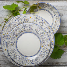 Load image into Gallery viewer, Italian ceramic 3pc dinner set hand printed Montanari design